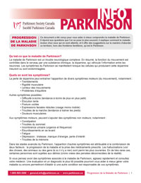 Progression de la maladie de Parkinson